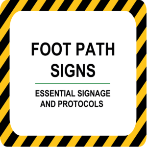 Foot Path Signs
